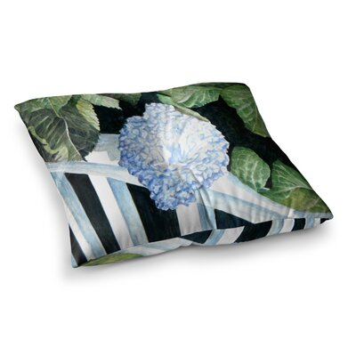 Rosie Brown Hydrangea Floral Watercolor Square Floor Pillow Size: 26 x 26