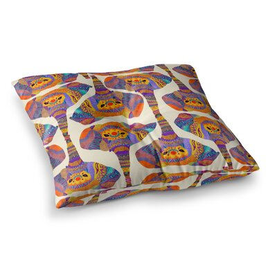 Pom Graphic Design Elephant Play Animal Print Square Floor Pillow Size: 23 x 23