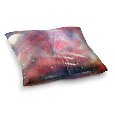 Infinite Spray Art Cascade Swirl Square Floor Pillow Size: 26 x 26
