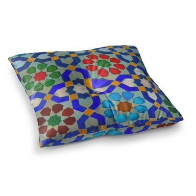 S Seema Z Morrocon Pattern Square Floor Pillow Size: 23 x 23