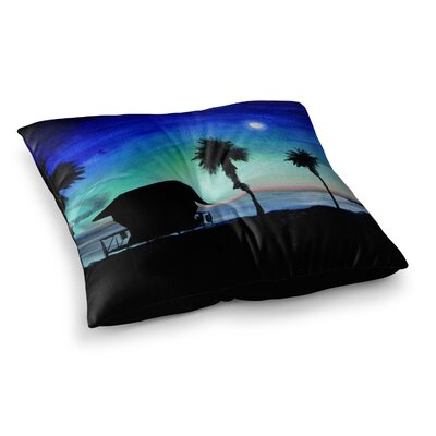 Theresa Giolzetti Carlsbad State Beach Square Floor Pillow Size: 23 x 23