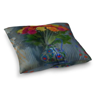 S. Seema Z Spring Bouquet Flowers Square Floor Pillow Size: 23 x 23