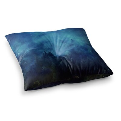 888 Design Night Forest Square Floor Pillow Size: 23 x 23