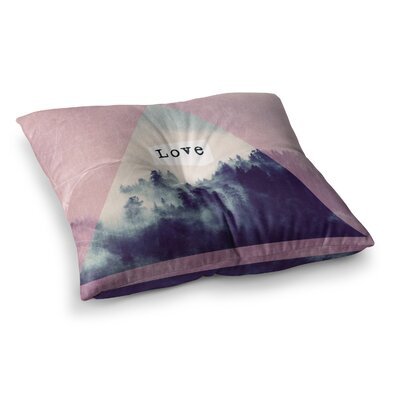 Suzanne Carter Love Digital Square Floor Pillow Size: 26 x 26