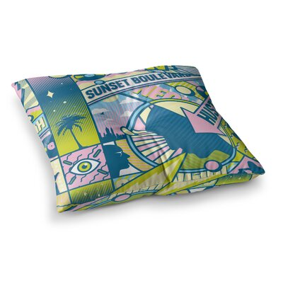 Roberlan Sunset Boulevard Digital Square Floor Pillow Size: 26 x 26