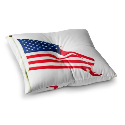 Sylvia Coomes American Flag Holiday Square Floor Pillow Size: 26 x 26