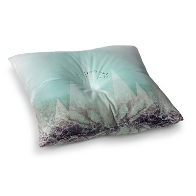 Pia Schneider Trees under Magic Mountains Vi Square Floor Pillow Size: 23 x 23