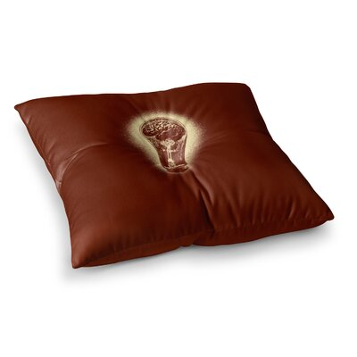 BarmalisiRTB Brain Stun Digital Square Floor Pillow Size: 23 x 23
