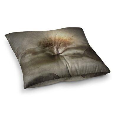 Viviana Gonzalez Lone Tree Love IV Square Floor Pillow Size: 23 x 23