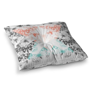 Victoria Krupp Geo Butterflies Illustration Square Floor Pillow Size: 26 x 26