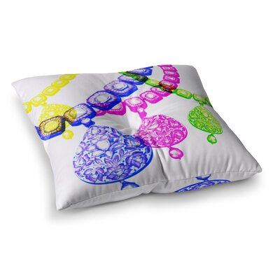 Sreetama Ray Precious Jewelry Square Floor Pillow Size: 26 x 26