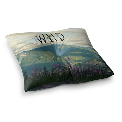 Robin Dickinson Keep It Wild Square Floor Pillow Size: 23 x 23