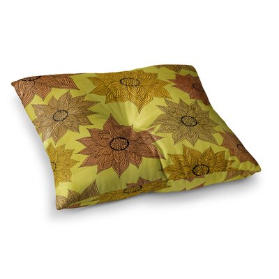 Pom Graphic Design Its Raining Flowers Square Floor Pillow Size: 26 x 26
