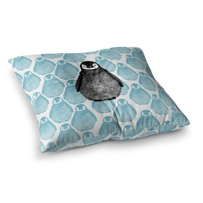 BarmalisiRTB Penguin Digital Square Floor Pillow Size: 23 x 23