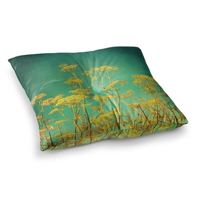 Sylvia Cook Flowers Sky Square Floor Pillow Size: 26 x 26