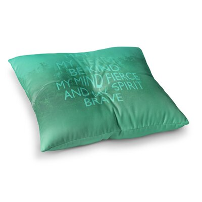Suzanne Carter Kind Typography Square Floor Pillow Size: 23 x 23, Color: Green