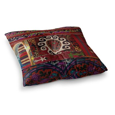 S Seema Z Burst of diverse Ethnic Square Floor Pillow Size: 23 x 23