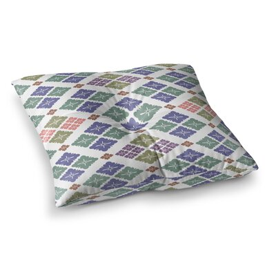 Setsu Egawa Happy Lozenge Square Floor Pillow Size: 23 x 23