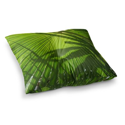 Rosie Brown Palm Shadows Lime Square Floor Pillow Size: 23 x 23
