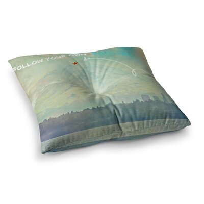 Robin Dickinson Follow Your Own Arrow City Landscape Square Floor Pillow Size: 23 x 23
