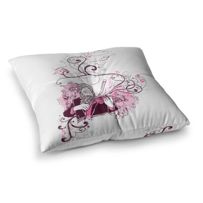 Tobe Fonseca Violinist Square Floor Pillow Size: 23 x 23