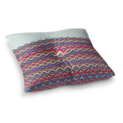 Pom Graphic Design Horizons II Square Floor Pillow Size: 26 x 26, Color: Teal