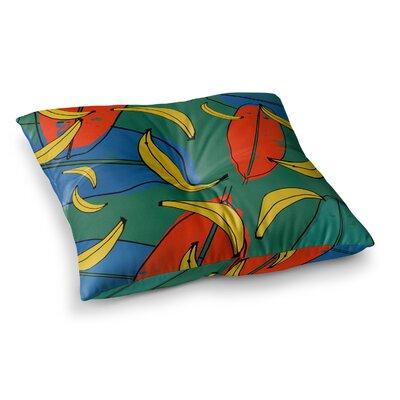 Susan Sanders Ivy Basket Weave Square Floor Pillow Size: 23 x 23