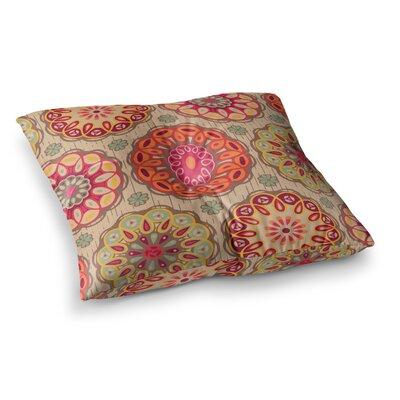Suzie Tremel Festival Folklore Vintage Floral Square Floor Pillow Size: 26 x 26