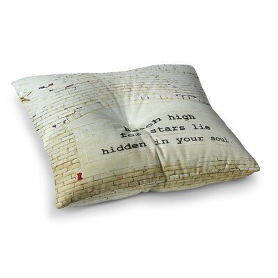 Robin Dickinson Reach High Brick Wall Square Floor Pillow Size: 26 x 26