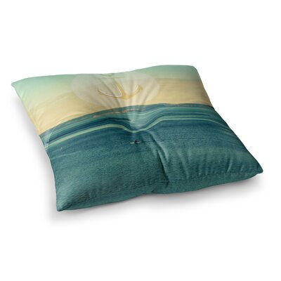 Robin Dickinson Row Your Own Boat Square Floor Pillow Size: 23 x 23