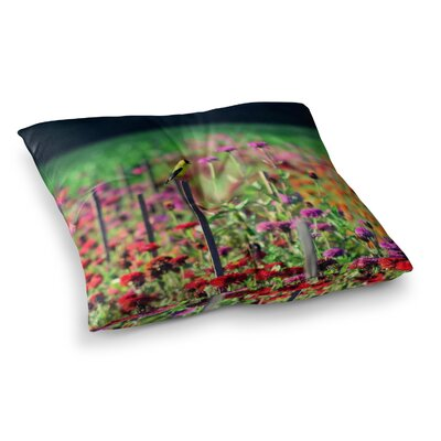Robin Dickinson Live in the Sunshine Square Floor Pillow Size: 23 x 23