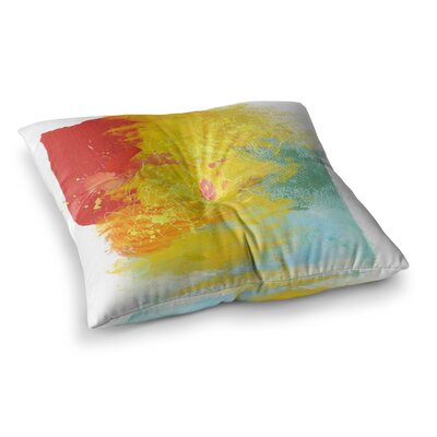 Oriana Cordero Medley Paint Square Floor Pillow Size: 26 x 26
