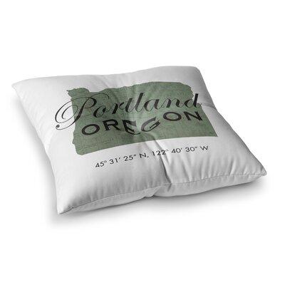 Juan Paolo Portland Coordinates Square Floor Pillow Size: 23 x 23