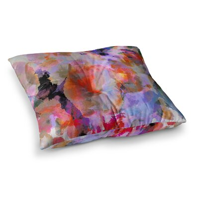 Nikki Strange Painterly Blush Square Floor Pillow Size: 23 x 23