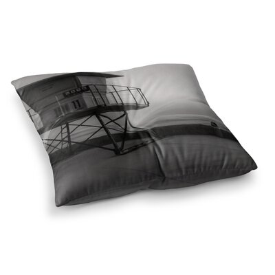 Nick Nareshni Lifeguard Station at Dusk Square Floor Pillow Size: 26 x 26