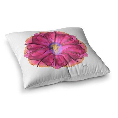 Oriana Cordero Athena-Flower Lavender Square Floor Pillow Size: 26 x 26