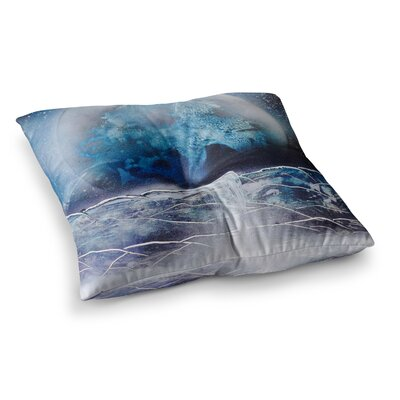 Infinite Spray Art Surreal Falls Planet Square Floor Pillow Size: 26 x 26