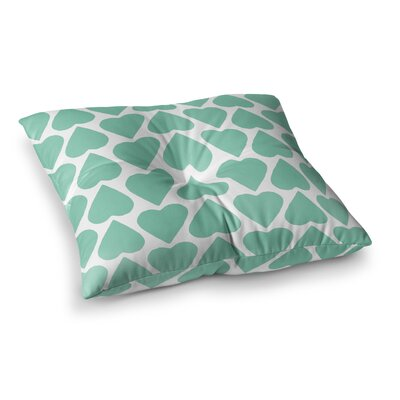 Project M Up and Down Hearts Square Floor Pillow Size: 23 x 23
