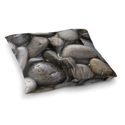 Susan Sanders Skipping Stone Rocks Square Floor Pillow Size: 23 x 23