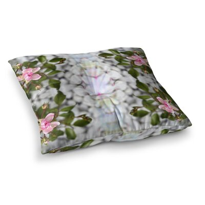 Pia Schneider Roses ll Square Floor Pillow Size: 26 x 26, Color: Red