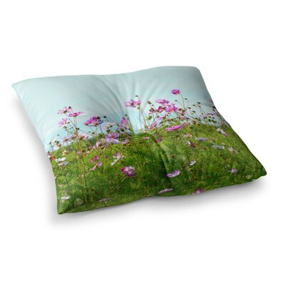 Robin Dickinson I Choose Magic Flowers Square Floor Pillow Size: 26 x 26