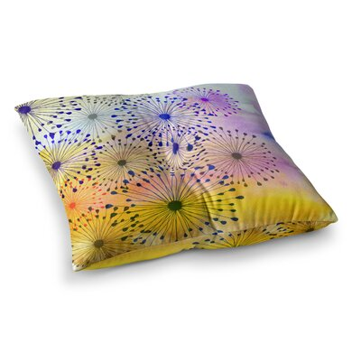 Sreetama Ray Bursting Blossoms Square Floor Pillow Size: 26 x 26