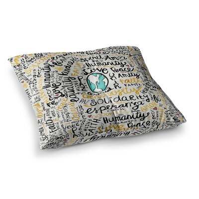 Pom Graphic Design Positive Messages Illustration Square Floor Pillow Size: 26 x 26