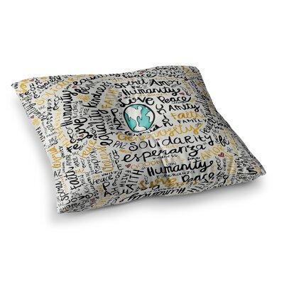 Pom Graphic Design Positive Messages Illustration Square Floor Pillow Size: 23 x 23