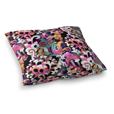 Victoria Krupp Fantasy Flowers Square Floor Pillow Size: 23 x 23
