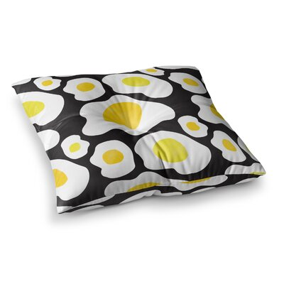 Vasare Nar Fried Eggs Pattern Pop Art Square Floor Pillow Size: 26 x 26