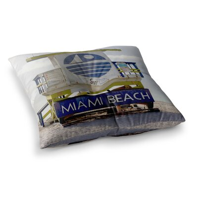 Philip Brown Miami Beach Lifeguard Square Floor Pillow Size: 23 x 23