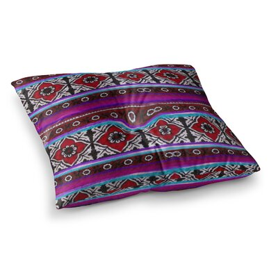 S Seema Z Sindhi Ajrak Pattern Square Floor Pillow Size: 26 x 26