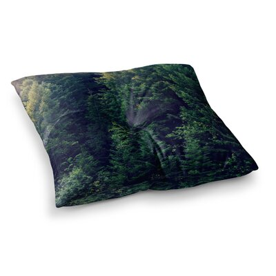 Robin Dickinson Red in Woods Forest Square Floor Pillow Size: 26 x 26