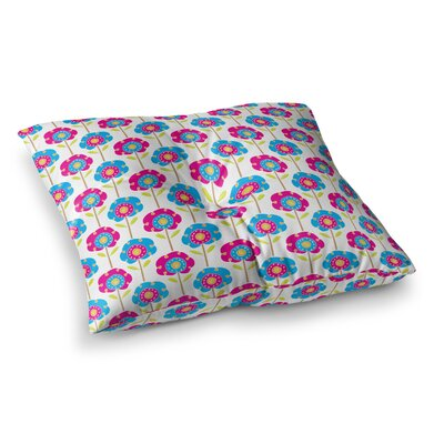Apple Kaur Designs Lolly Flowers Square Floor Pillow Size: 26 x 26